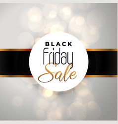 black friday sale background with bokeh effect vector image