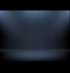 Black gradient background spotlights illumination vector