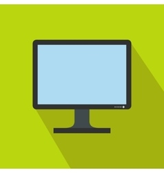 Blank computer monitor icon flat style vector
