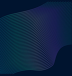 Blue wavy lines abstract background vector