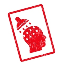 Brain Washing Icon Rubber Stamp vector