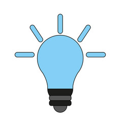 bulb cartoon flat vector image
