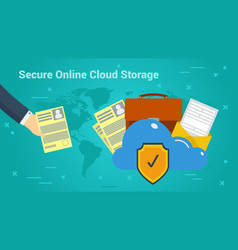 Business banner - secure online cloud storage vector
