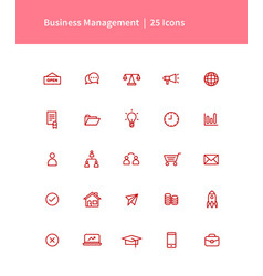 Business management icon pack vector