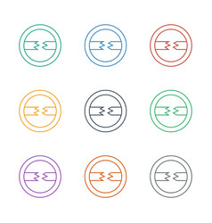 Cable icon white background vector