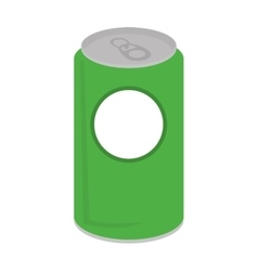 can soda drink isolated icon vector image