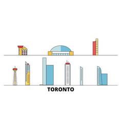 canada toronto city flat landmarks vector image