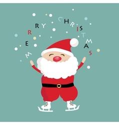 Christmas card with Santa Klaus vector