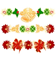 Christmas decoration garlands with bells vector
