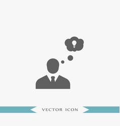 creative businessman icon simple idea sign vector image