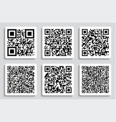 creative of qr codes vector image