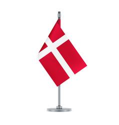 danish flag hanging on the metallic pole vector image