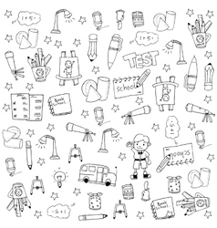 Doodle of education tools vector