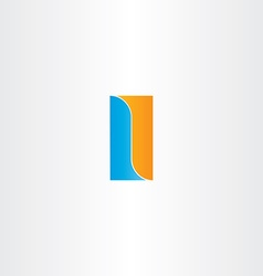 Double letter l logo design vector