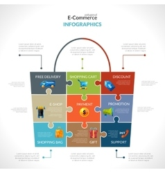 E-commerce Polygonal Infographics vector