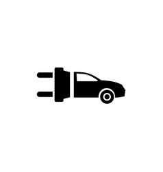 eco electric car flat icon vector image