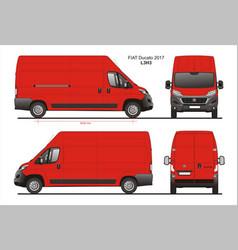 Fiat ducato cargo delivery van 2017 l3h3 vector