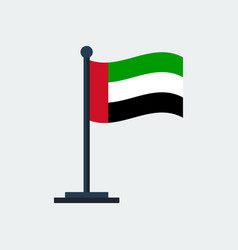 flag of uaeflag stand vector image