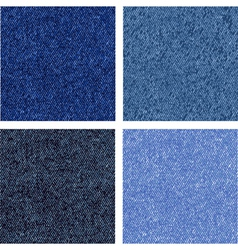 four different jeans texture vector image
