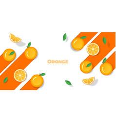 fresh orange fruit background in paper art style vector image