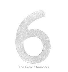 generative branch growth number 6 lichen vector image