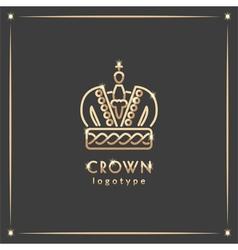 Golden crown logotype vector image