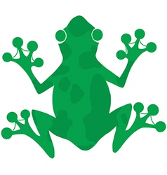 Green Spotted Frog Silhouette Logo vector image