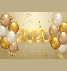 happy new year 2020 shining background vector image