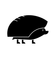 hedgehog icon sign o vector image