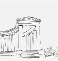 Historical architecture colonnade vector