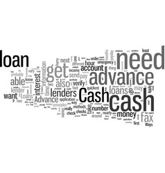 How to get your cash advance loan within an hour vector