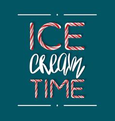 Ice cream time - creative poster vector