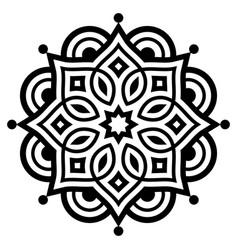Indian mandala art geometric design vector