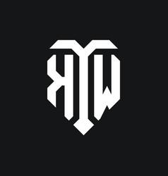 Kw logo monogram design template vector