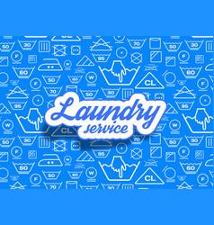 laundry symbols icons set background vector image