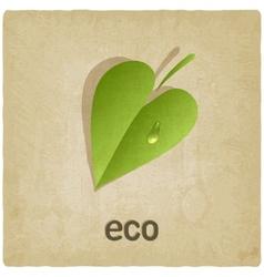 leaf eco old background vector image