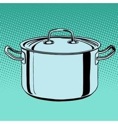 metal saucepan cookware vector image