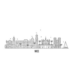 nice skyline france buildings city vector image