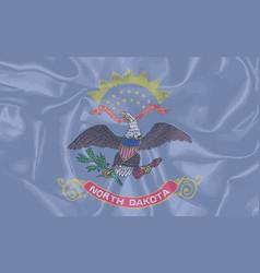 North dakota silk flag vector