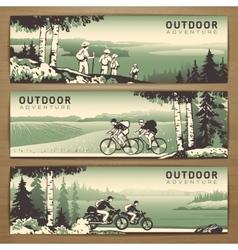 Outdoor banners vector