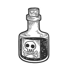 poison venom bottle sketch vector image