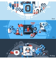 Racing Banner Set vector