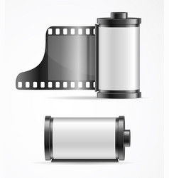 Realistic 3d detailed camera film roll cartridge vector