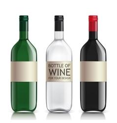 Realistic glass bottles empty transparent set vector image vector image