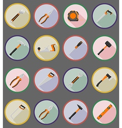 repair tools flat icons 19 vector image