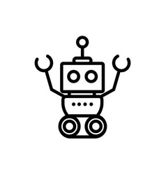 robot mascot machine technology character vector image