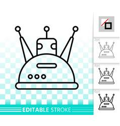 robot transformer simple black line icon vector image