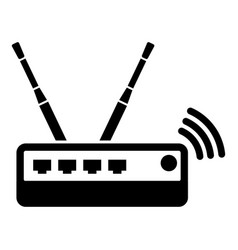 Router icon simple black style vector
