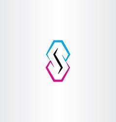 S letter logo symbol element design logotype vector