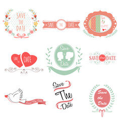 save the date for wedding vector image